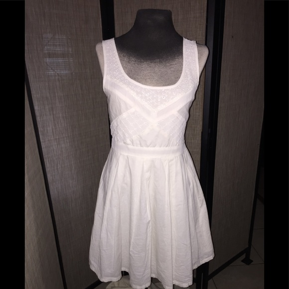 American Eagle Outfitters Cotton Ivory Dress